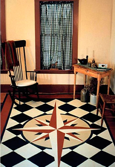 Mariner's Compass Floorcloth image