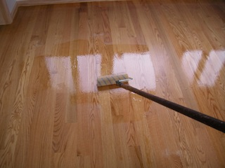Lying Water Based Polyurethane On Hardwood Floors Polyurethanefinish Image Finish