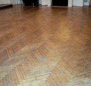 Quarter Sawed White Oak Floors In A Herringbone Pattern.